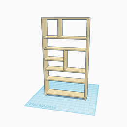 A bespoke bookcase design in 3d